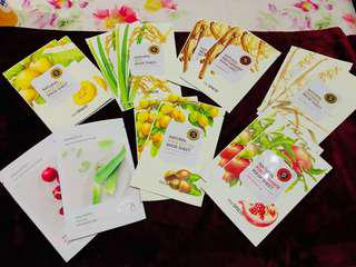 Innisfree and The Saem Natural Mask Sheet