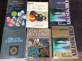 A level Chemistry textbooks and Organic Chemistry