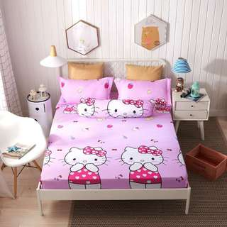 Hello Kitty Bedsheet (4 in 1 fitted,40cm)