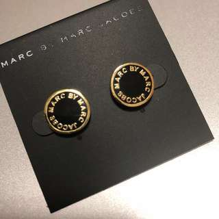 Marc By Marc Jacobs Earrings Black/Gold 黑色撞金邊耳環