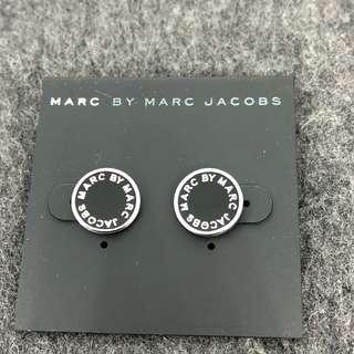 Marc By Marc Jacobs Earrings 黑色撞銀色邊 耳環