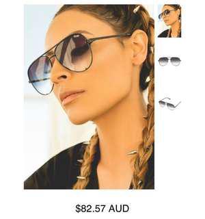 Quay black high key fade sunglasses