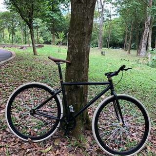 Matt Black fixie with front brake as good as new