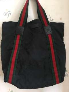 Gucci 布手挽袋