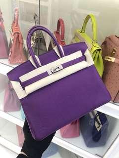 Hermes Birkin 25 P9海癸紫💜💜💜極品顏色超新,現貨