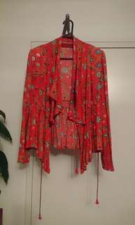 Highly sought after Tigerlily red universe jacket- size 8