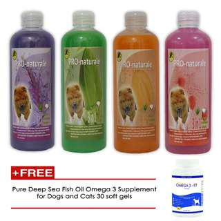 Lavender, Lime, Melon & Rasberry shampoo 500mL with free Omega 3k9 Fish oil