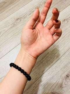 🚚 黑瑪瑙佛珠手環「全新」