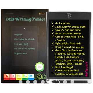 8.5-inch Ultra-Thin LCD Writing Drawing Sketching Doodling Scribbling Tablet Board