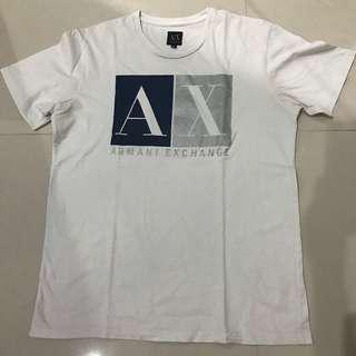 Ax armani exchange t shirt white putih kaos
