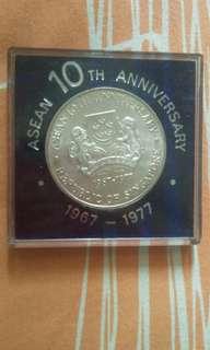 10 dollar singapore 1967