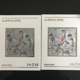 [SEALED] WANNA ONE UNDIVIDED TRIPLE POSITION