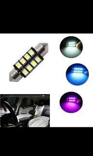 🚚 31mm 36mm 39mm 42mm Car LED FESTOON Bulb C5W CANBUS NO ERROR Car Dome Light Auto Interior Lamp DC12V white ice blue pink