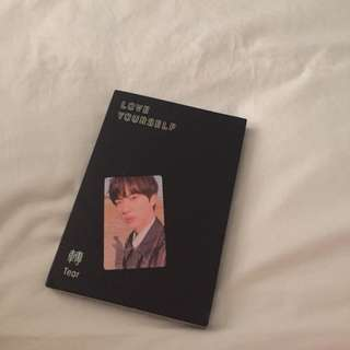 BTS LOVE YOURSELF TEAR Y VER. JIN PHOTOCARD ALBUM