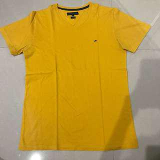 Tommy hilfiger yellow kuning t shirt kaos