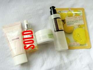 Korean skin care MIZON snail moisturizer, COSRX centella cream