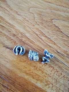 (全新) 丹麥Trollbeads 925純銀串珠,每粒$280