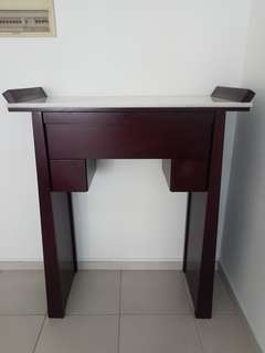 Altar Table with  Marble Top,  pull out tray & drawers