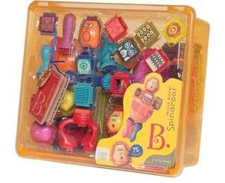 B. Toys, Bristle Block Spinaroos