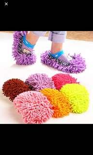 🚚 Floor dust cleaner lazy shoes microfiber mop