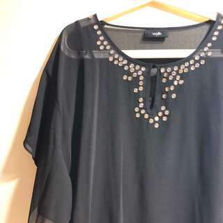 Wallis sequined blouse