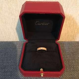 Cartier 卡地亞 love系列戒指 18k金鑽石幼圈♡
