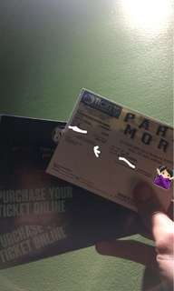 PARAMORE VIP TICKET FOR SALE!!