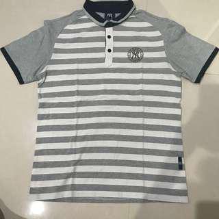Ny new york shirt kemeja abu putih grey white