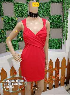Mini dress spandex bra merah bodycone