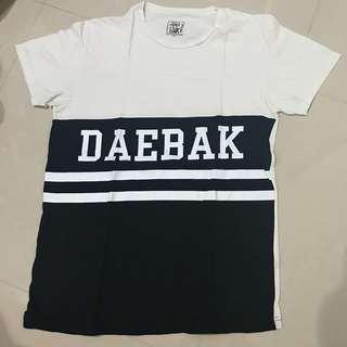 Daebak t shirt kaos black white putih hitam
