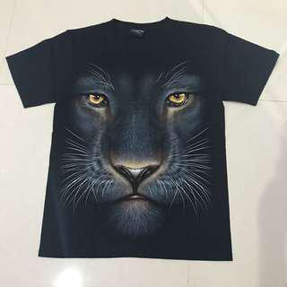 T shirt kaos hitam black glow in the dark