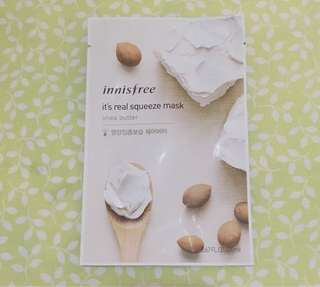 •NEW• Innisfree It's Real Squeeze Mask - Shea Butter