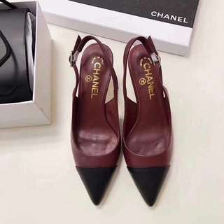 Chanel Leather Slingbacks