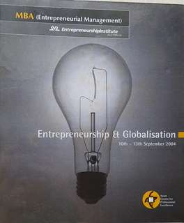 MBA(Entrepreneurial Management) - Entrepreneurship & Globalisation