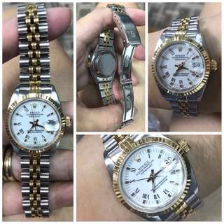 Rolex Date Just Ladies With White Face