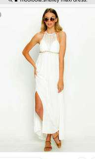 BNWT Mooloola Shelley White Maxi Dress