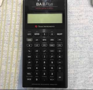 Texas Instruments BA II 2 Plus Professional Advanced Business Analyst Financial Calculator with Case