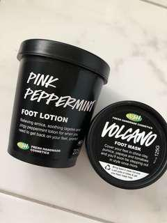 Lush Pink Peppermint and Volcano Foot Mask
