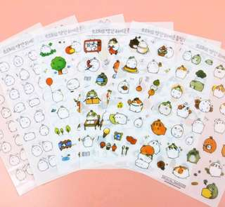 Molang sticker sheet
