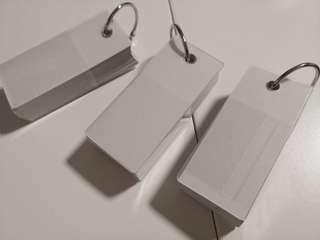 Muji key ring memo block square