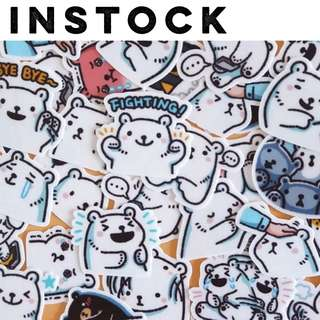 🚚 [IN] Planner Stickers — Bear / Polar Bear / Cute / Expressive / Emoticon