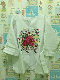 Blouse Flower Bordir