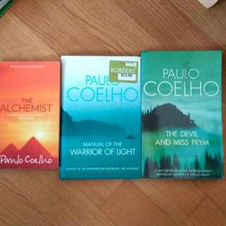 Paolo coelho the alchemist, manual of the warrior of light, the devil & miss Prym 3for$10 (or $6.70 each)
