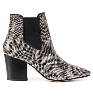 MIMCO Tribute Boots in Snake Monochrome - Size 39 AU 8 8.5 RRP $350
