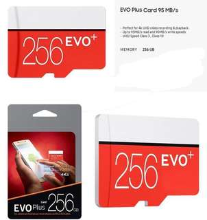 🚚 CHEAPEAST 256GB Evo micro SD memory card!