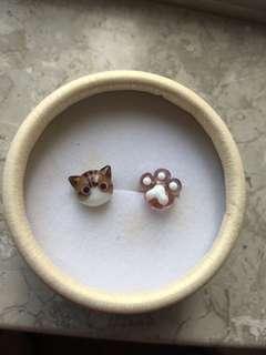 Cat Accessory Earring & Mirror