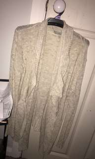 Light cardigan waterfall size 10