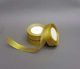 🚚 Glitter Gold Fabric Ribbon