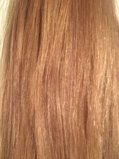 Honey blonde nanobead microbead hair extensions 22 inch