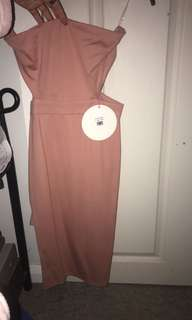 Tiger mist pink bandeau dress size 8